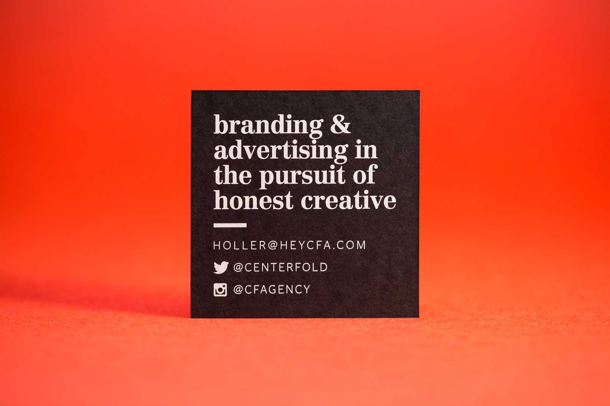 centerfold business card