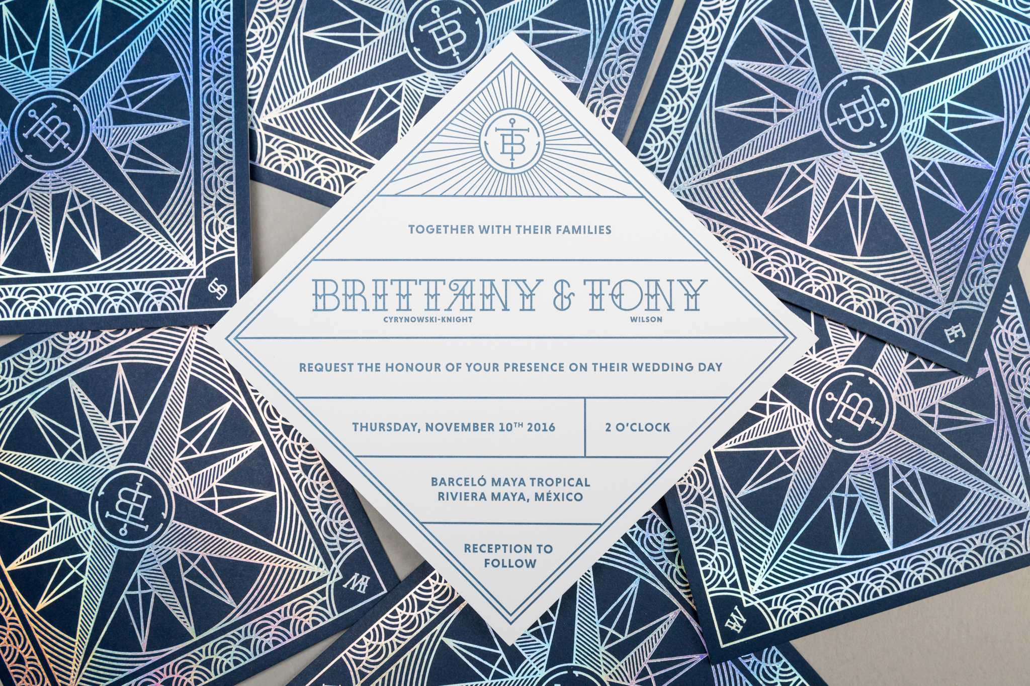 Brittany & Tony Wedding Invitation - PaperSpecs