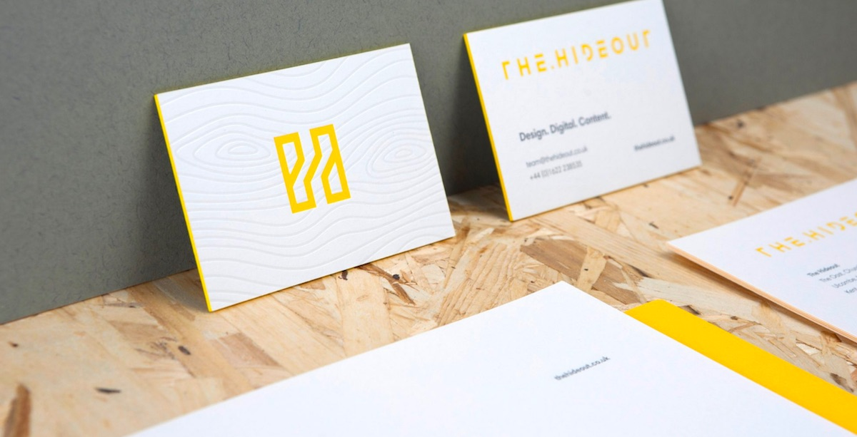 hideout business card