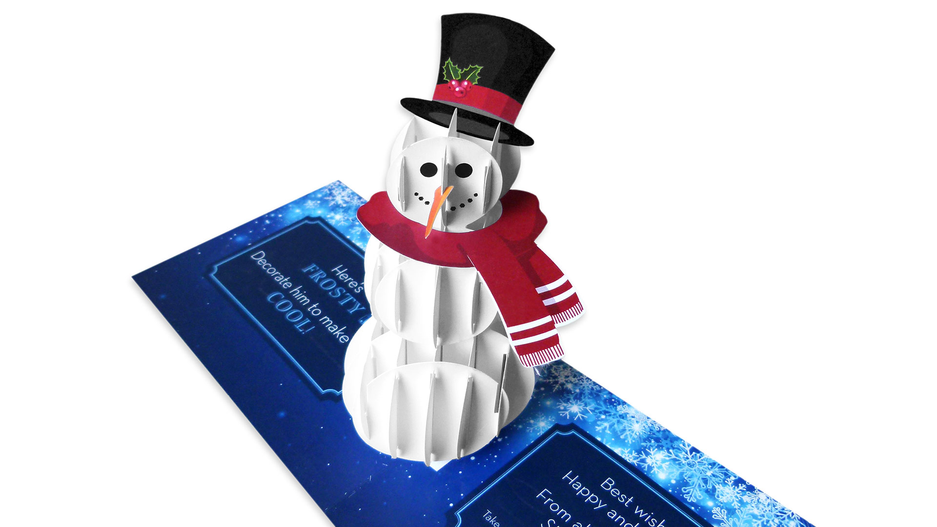 Structural Graphics' DIY Frosty Holiday Card - PaperSpecs