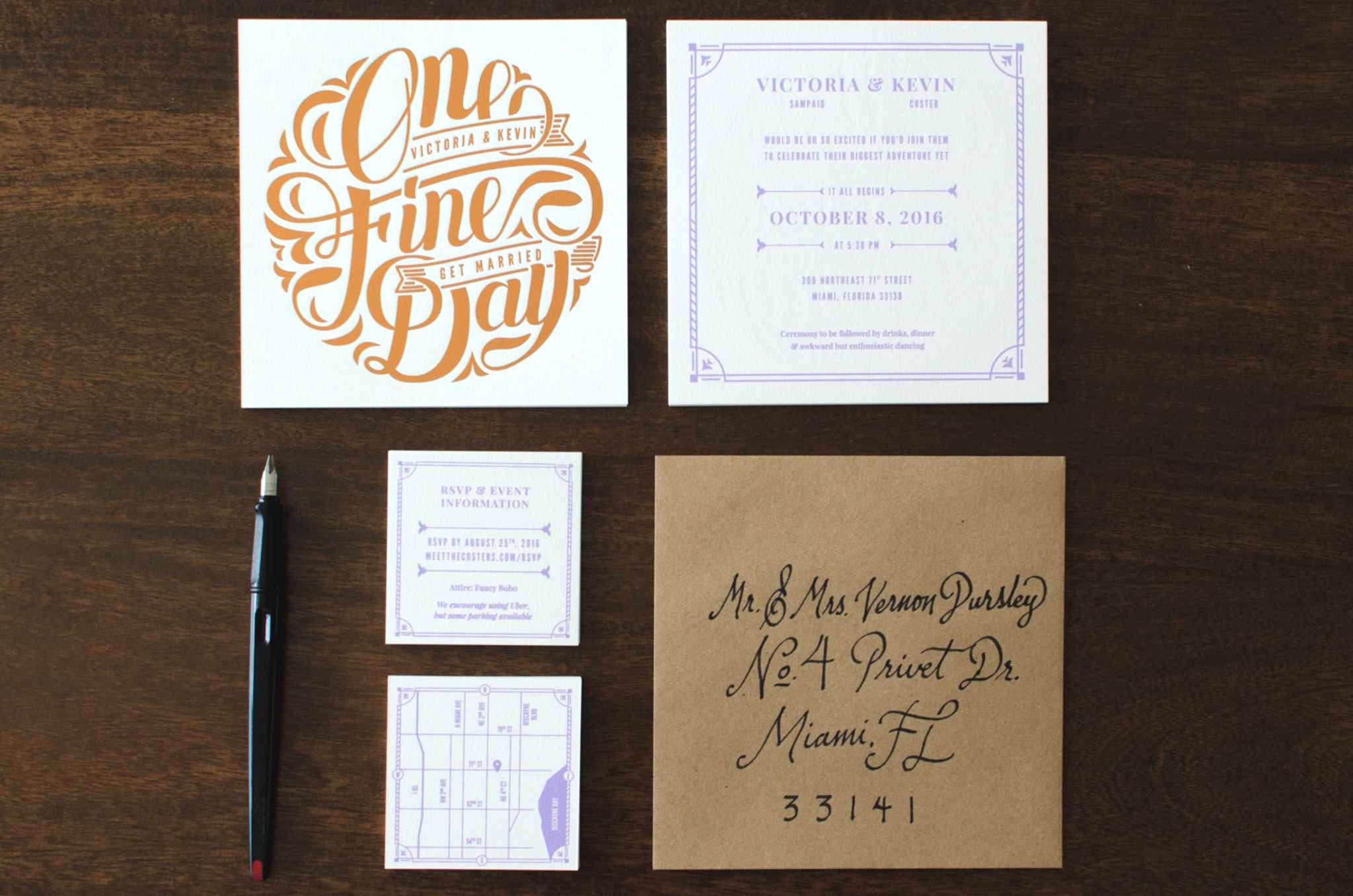 Kevin Coster Wedding Suite - PaperSpecs