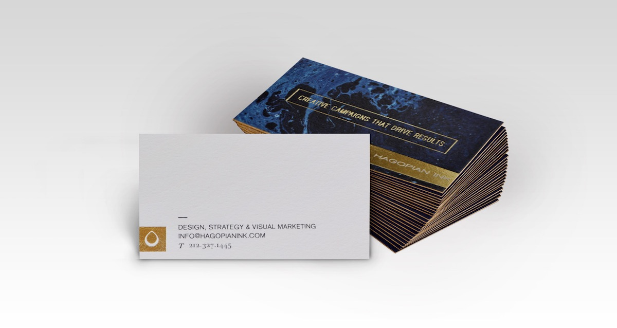 Hagopian Ink Business Cards - PaperSpecs