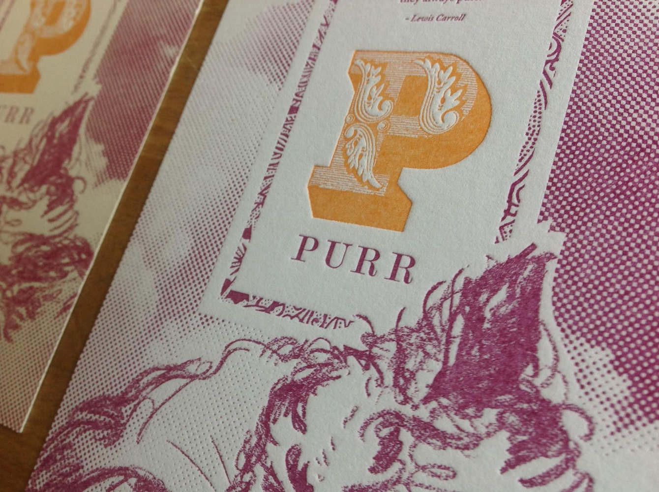 'P is for Purr' Letterpress Cards - PaperSpecs