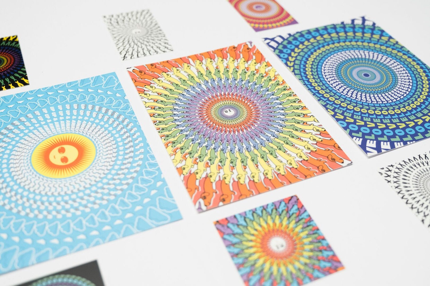 Psychedelic animated business cards