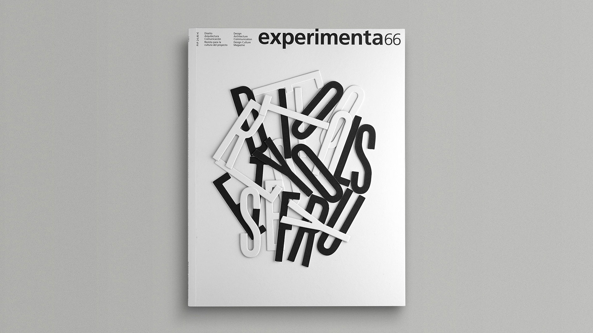 Experimenta 66 magazine cover by Lavernia & Cienfuegos - PaperSpecs