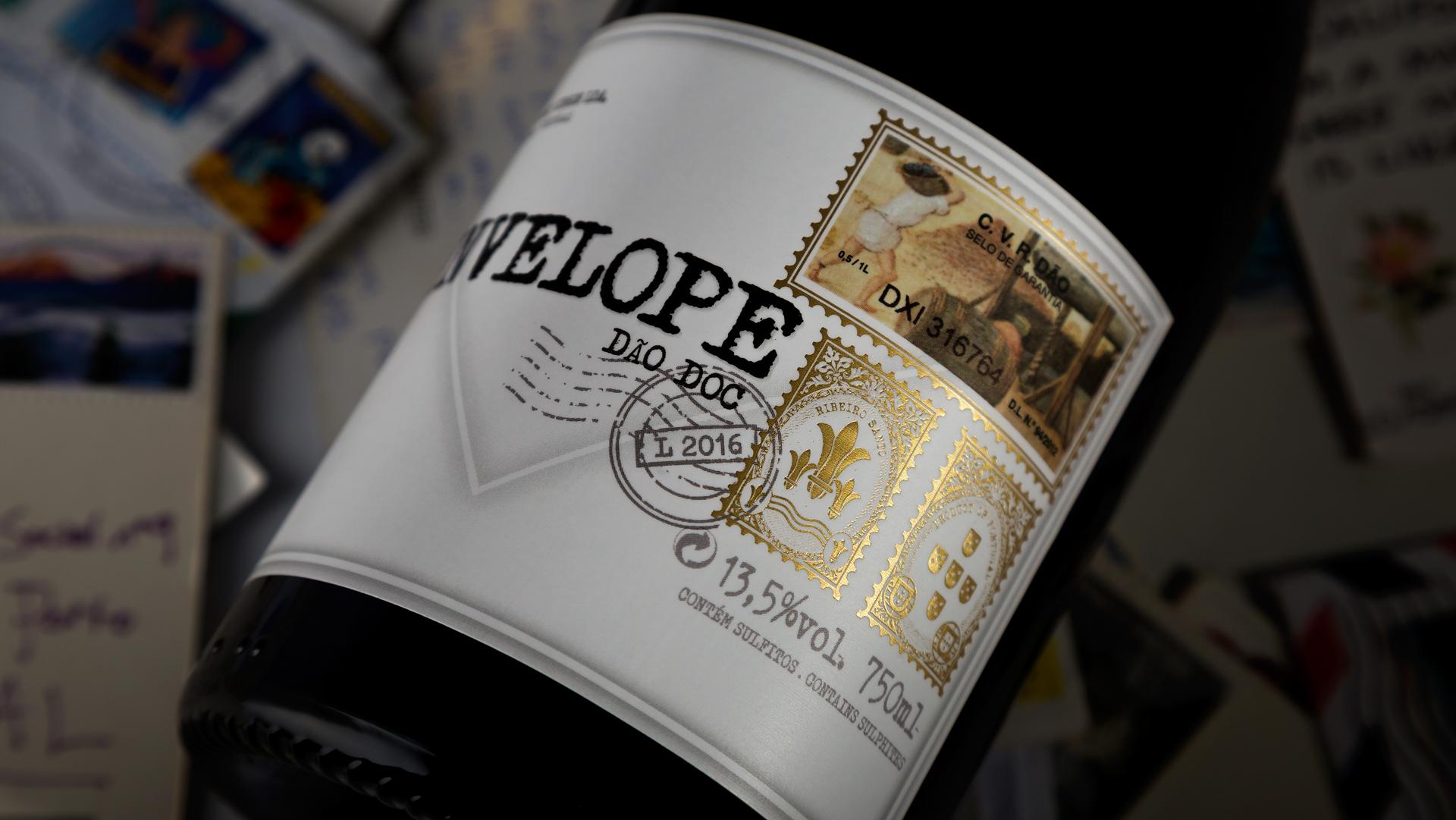 Ribeiro Santo Envelope Wine Label - PaperSpecs