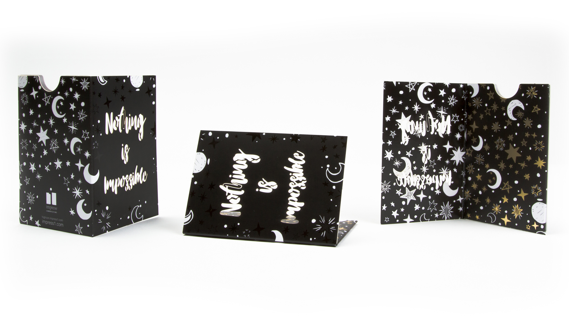 Nothing is Impossible Business Card Holders - PaperSpecs