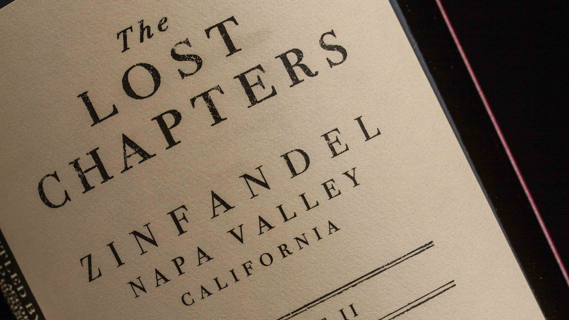 'The Lost Chapters' Wine Label - PaperSpecs
