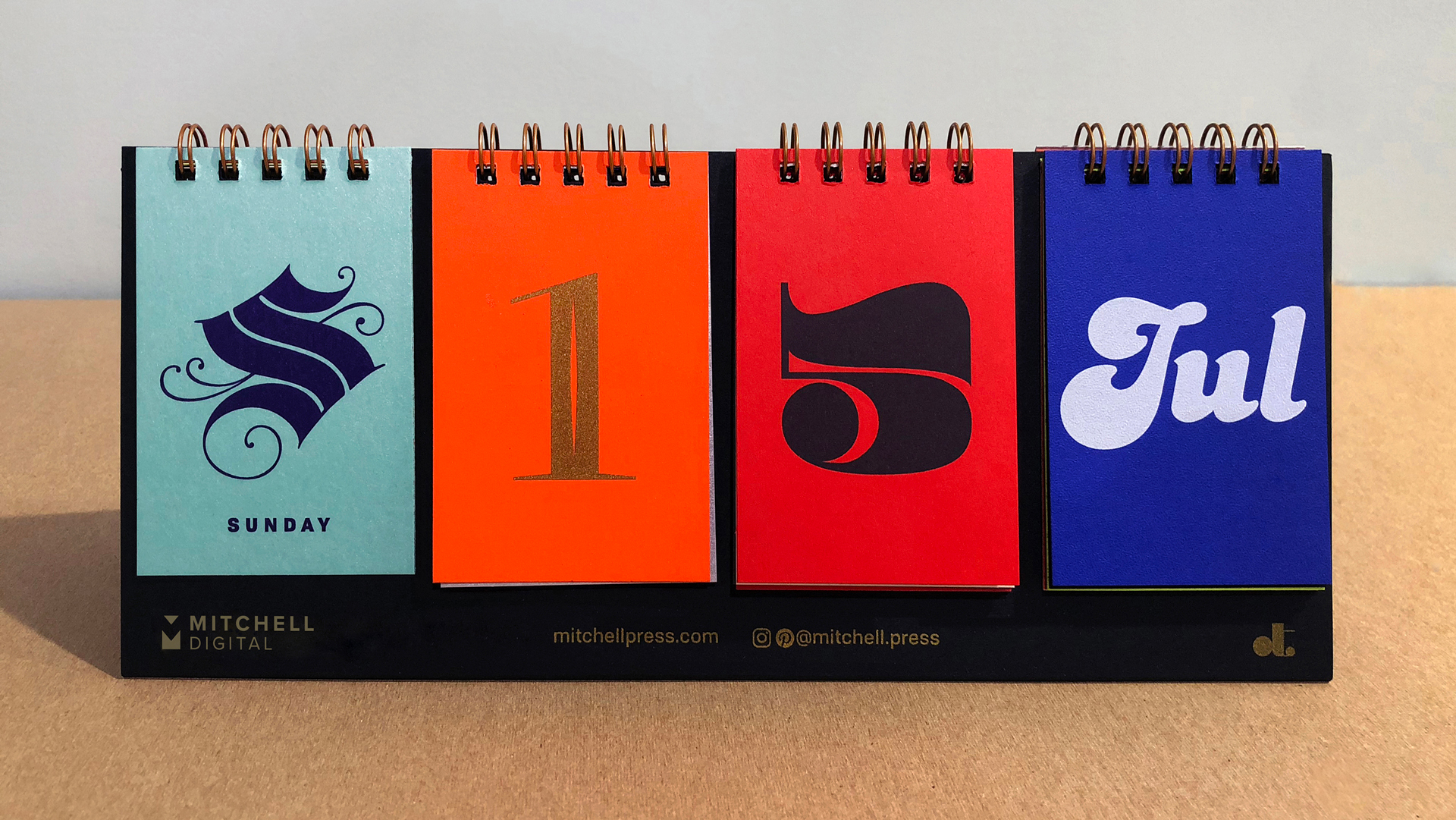 Perpetual Typographic Calendar