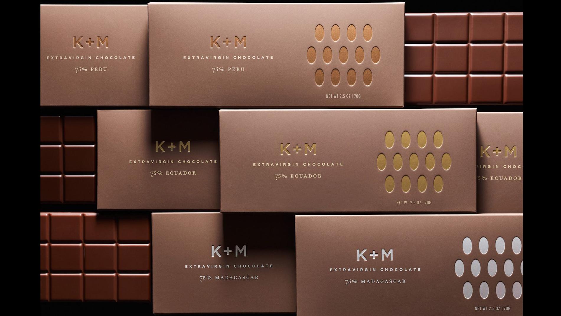 K+M Chocolate Packaging by Morla Design - PaperSpecs