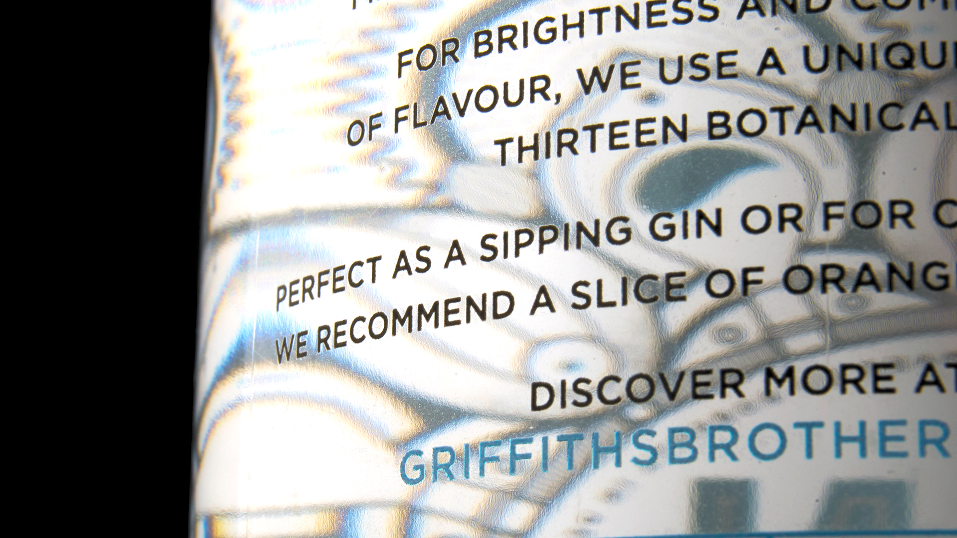 Griffiths Brothers Gin Label - PaperSpecs