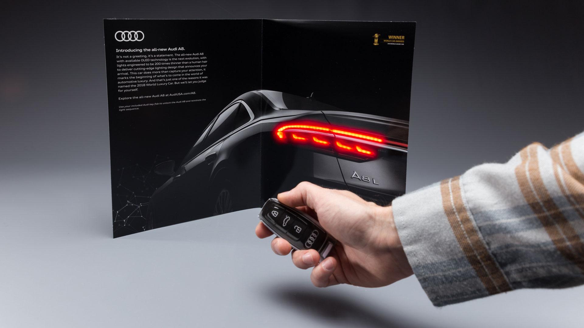 Audi A8 interactive insert
