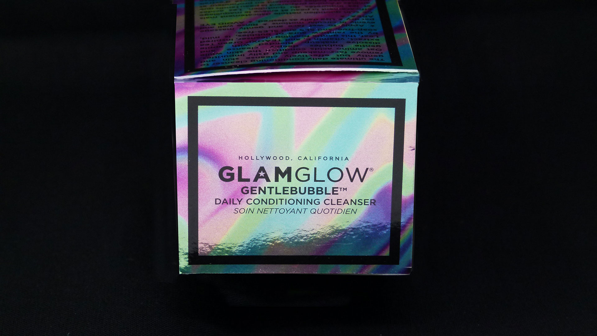 GLAMGLOW packaging from Mainline Holographics