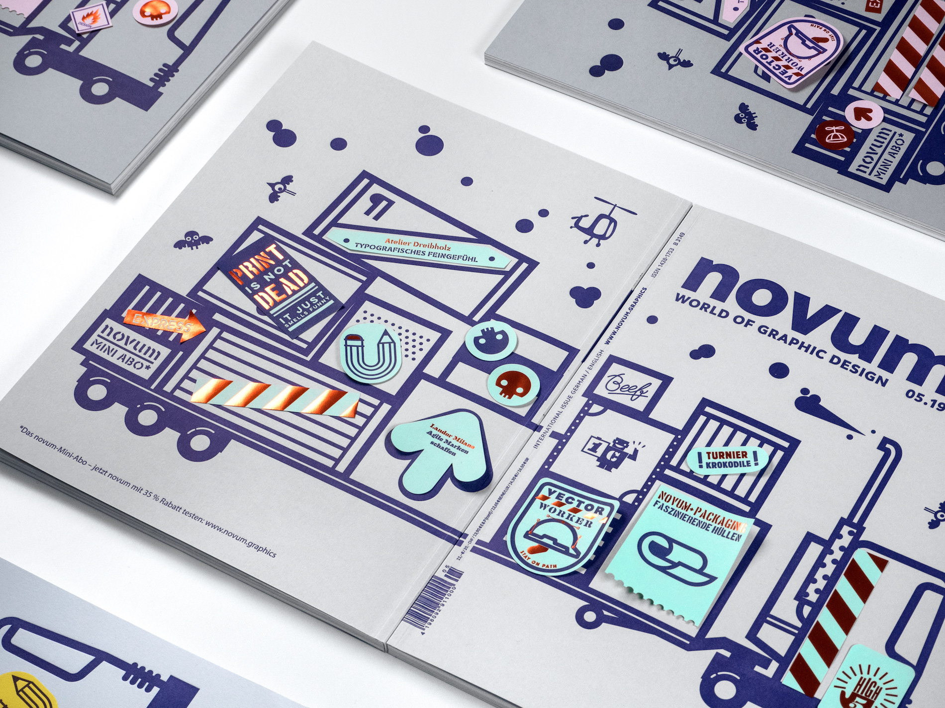 Do-it-yourself Novum Magazine Sticker Cover