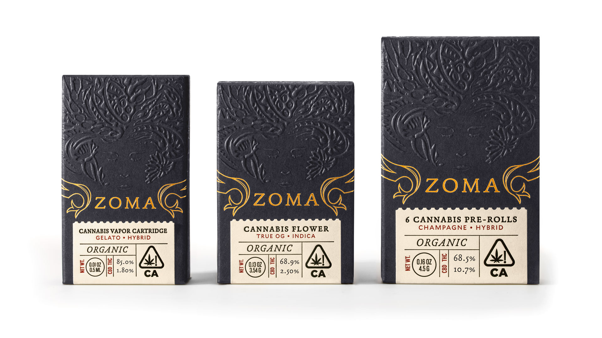 Zoma Cannabis Packaging - PaperSpecs