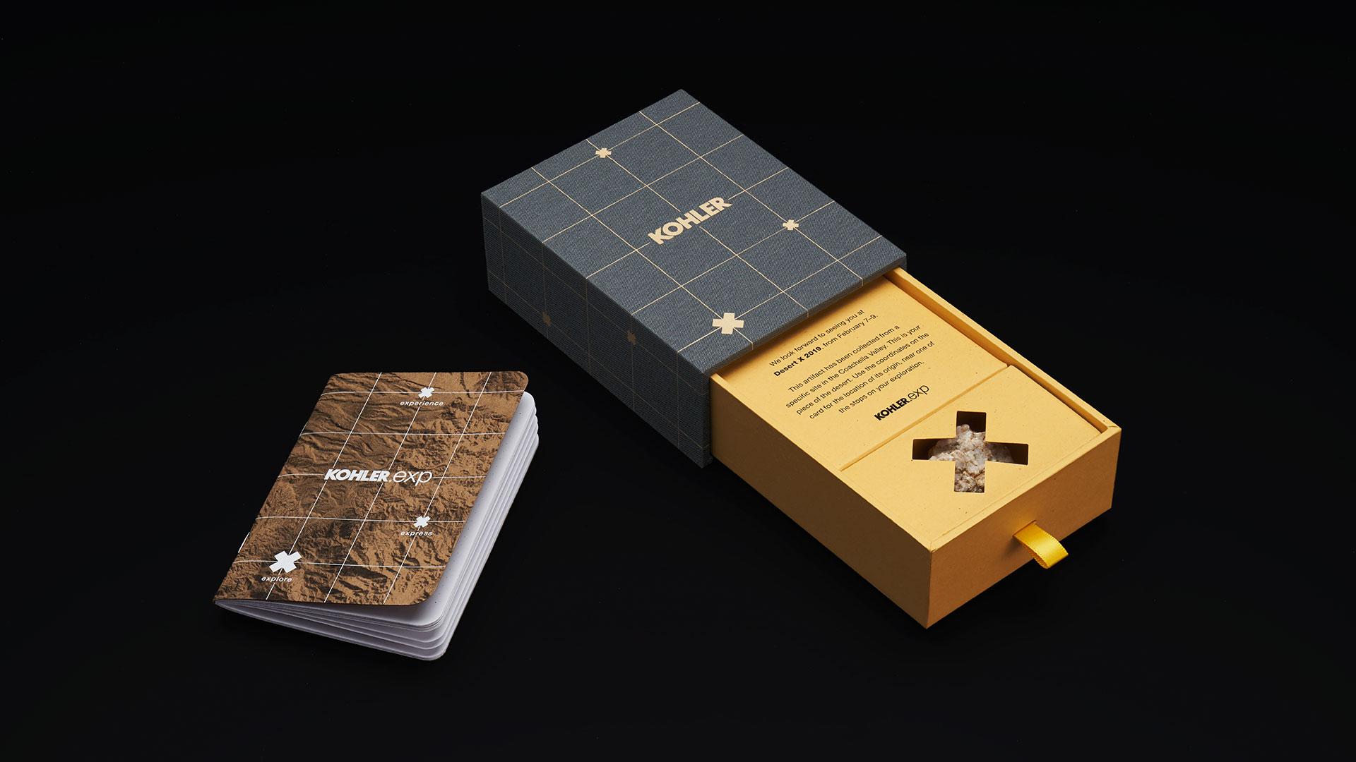 Luxury invitations by Kohler for the Desert X event
