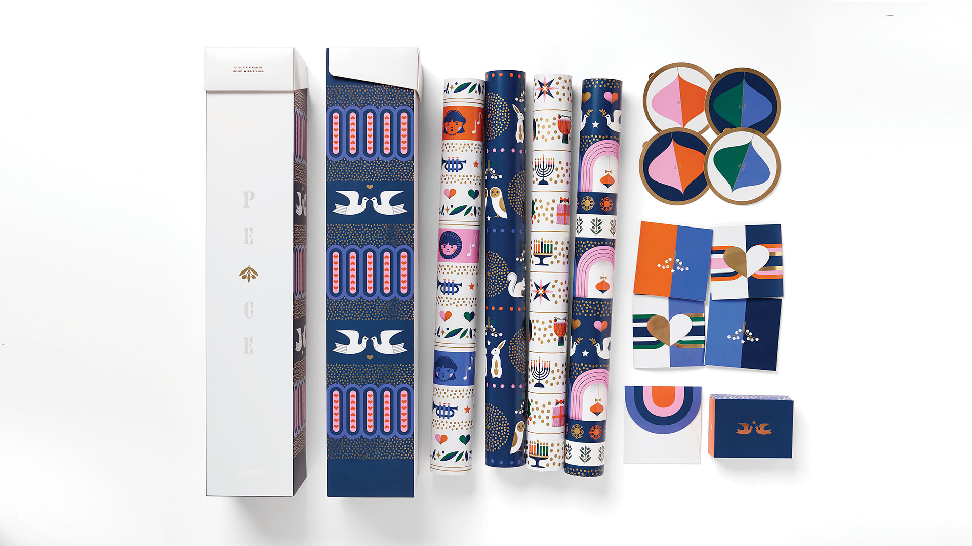 'Peace' Holiday Gift-Wrap Kit from Sappi North America featuring Spectro and McCoy