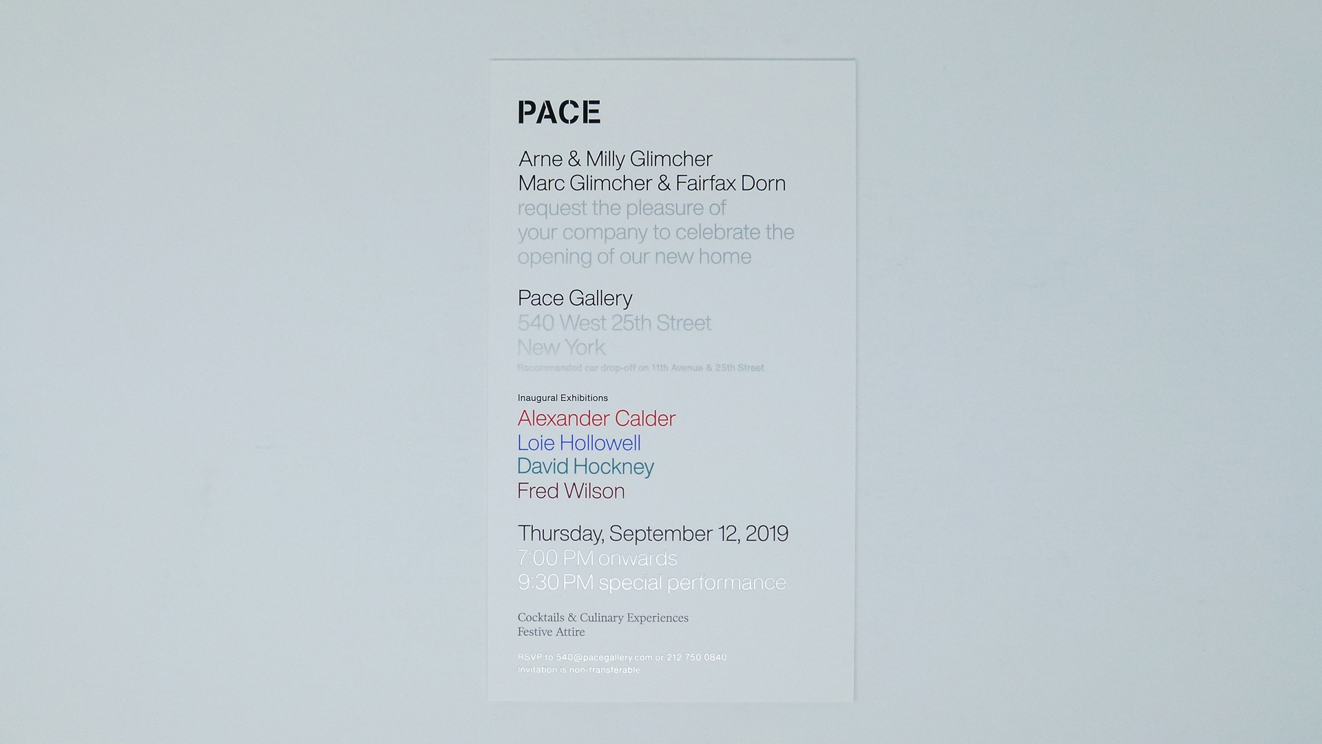 Animated Pace Gallery Invitation by DataGraphic - PaperSpecs
