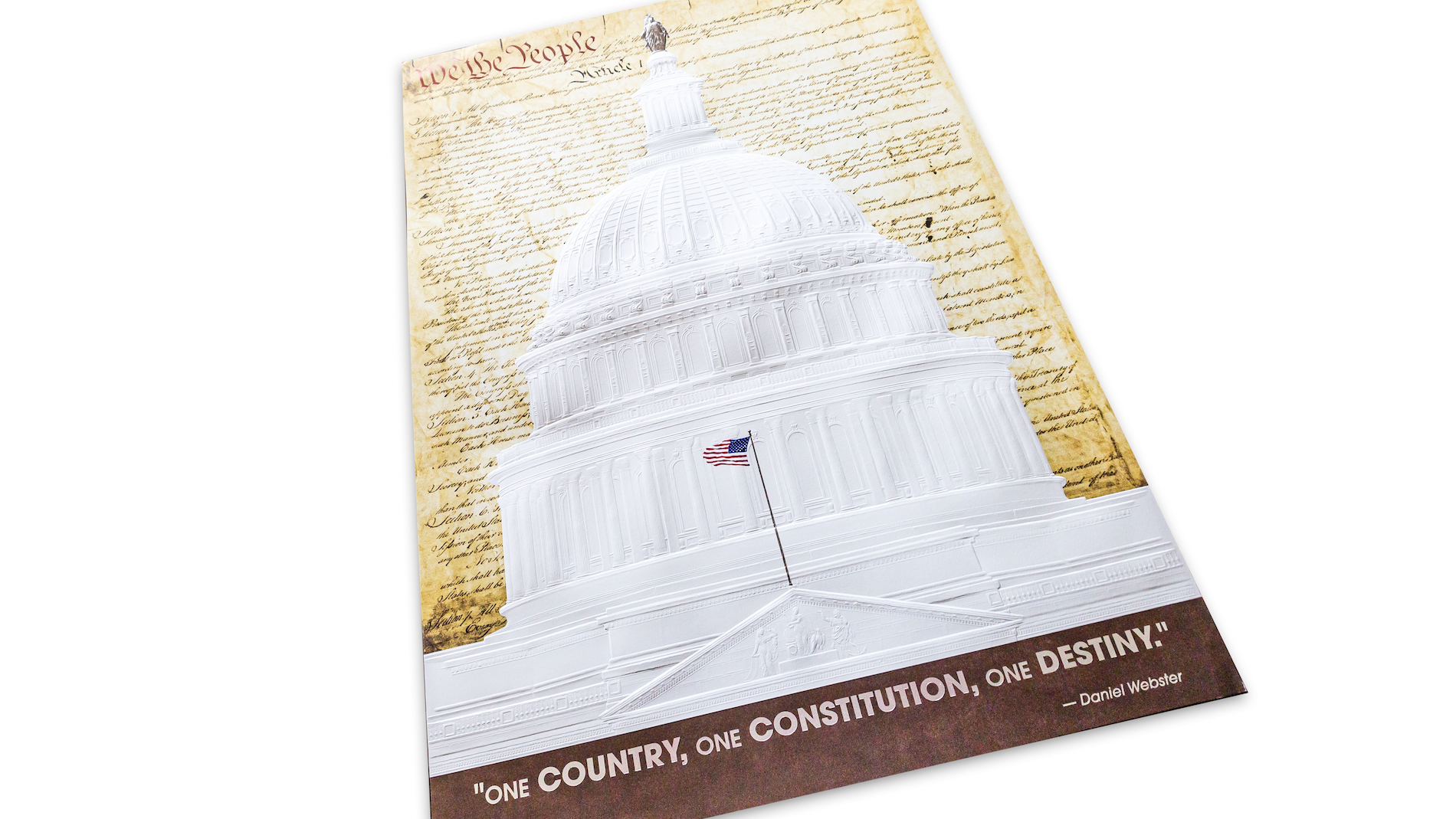 U.S. Capitol Building Foiled & Embossed Print - PaperSpecs