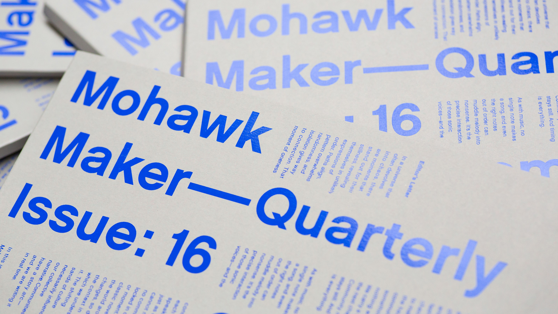The Mohawk Maker Quarterly Issue No. 16: Community
