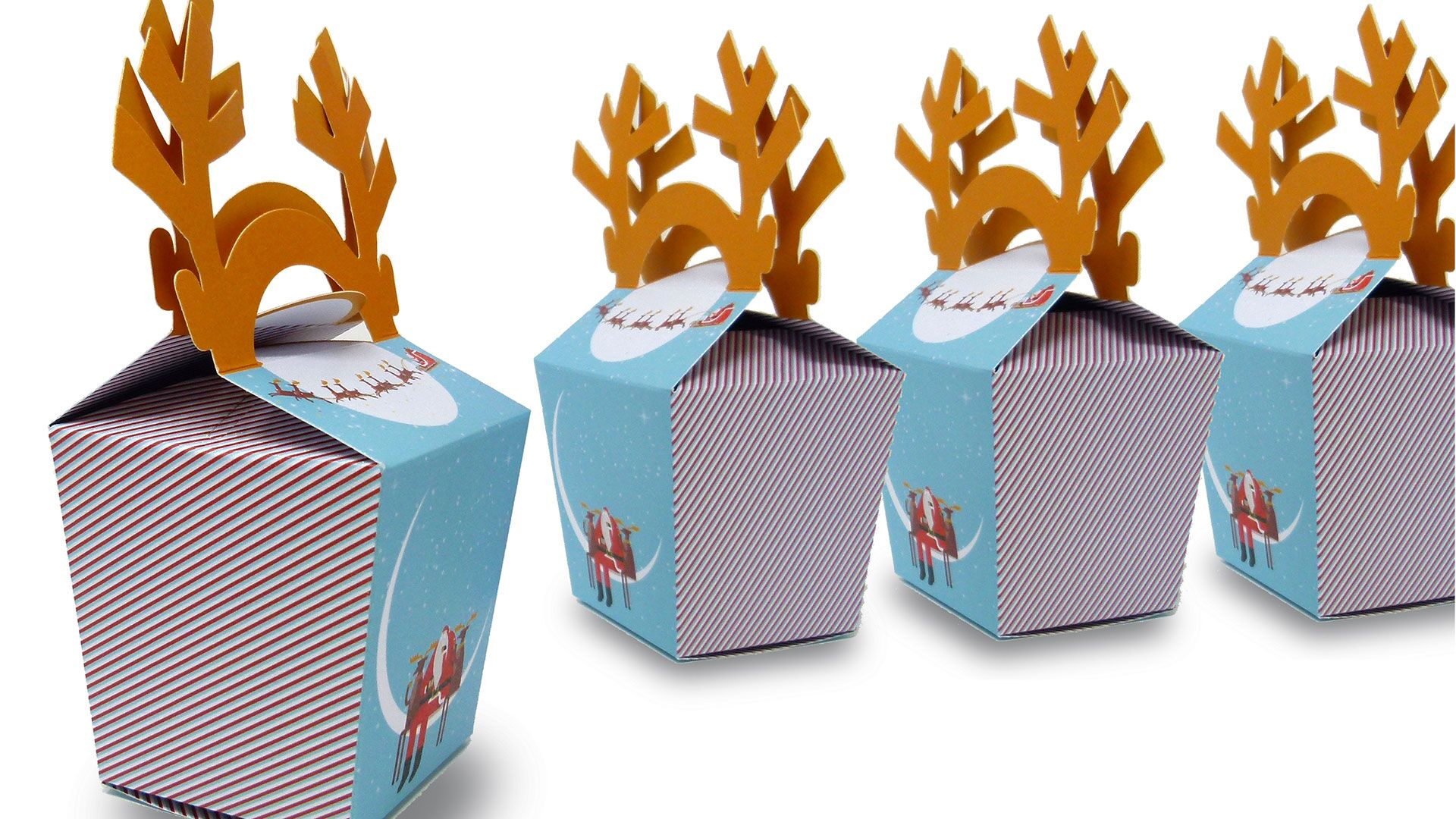 Convertible Solutions Glittering Reindeer Box - PaperSpecs