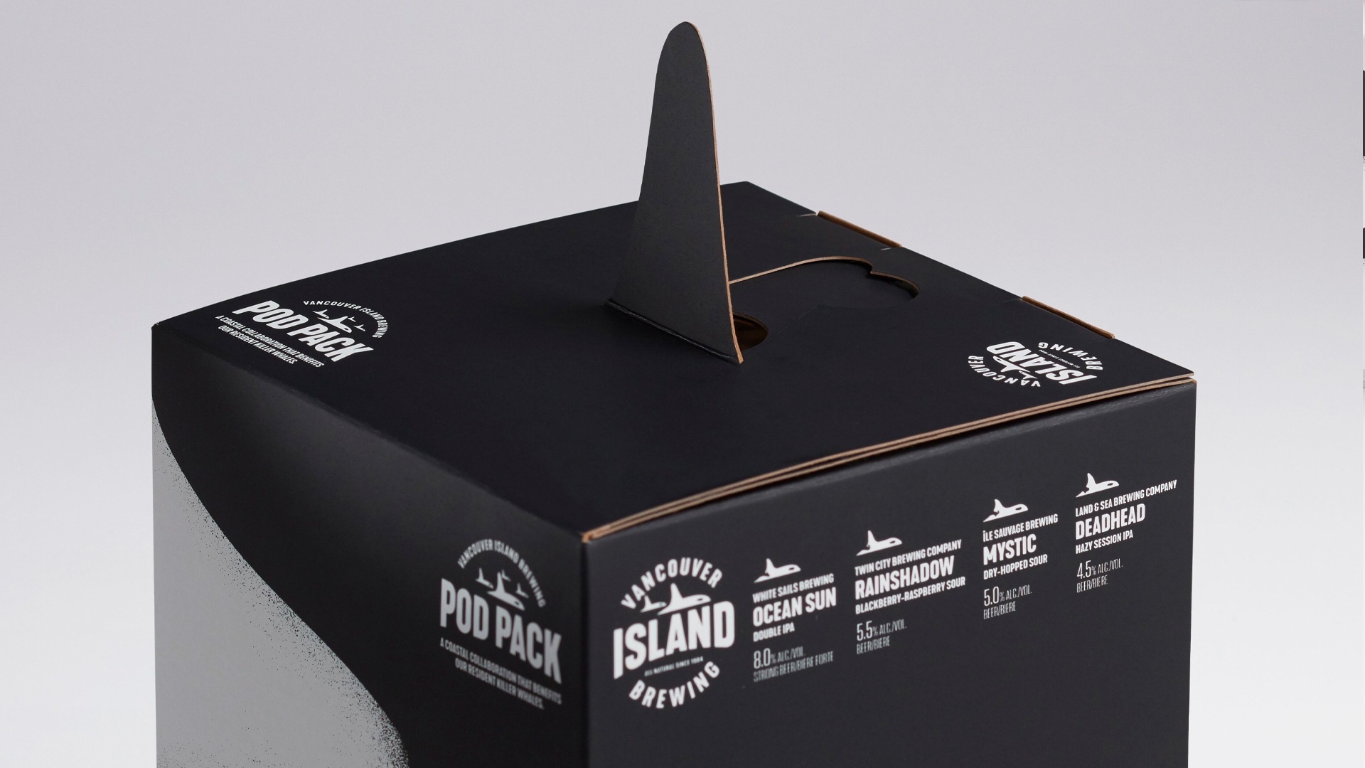 Killer Whale 'Pod Pack' Beer Labels & Packaging - PaperSpecs