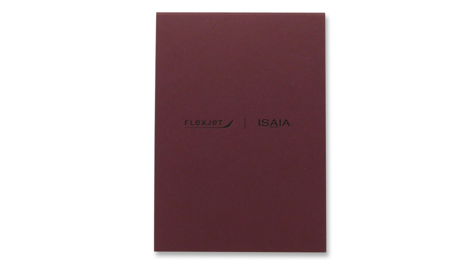 Flexjet-ISAIA Fashion Show Invitation - PaperSpecs