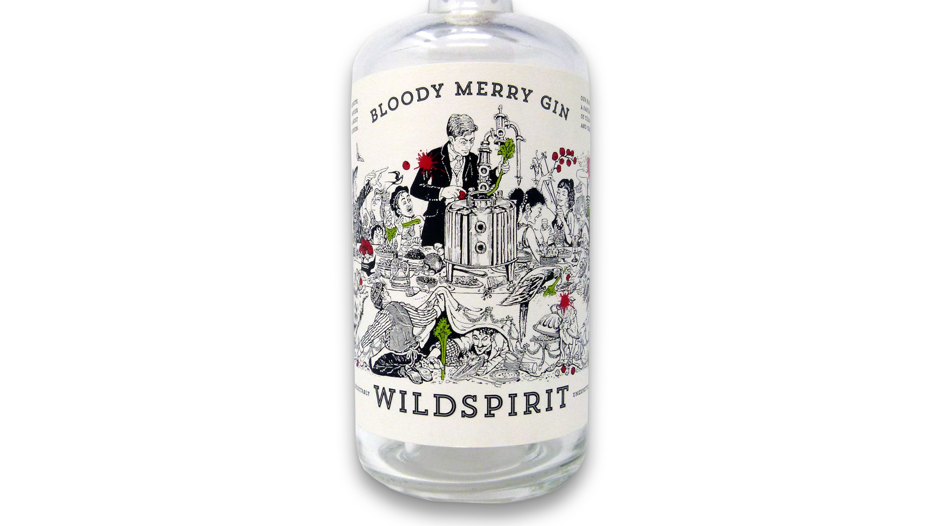 Bloody Merry Gin label - PaperSpecs