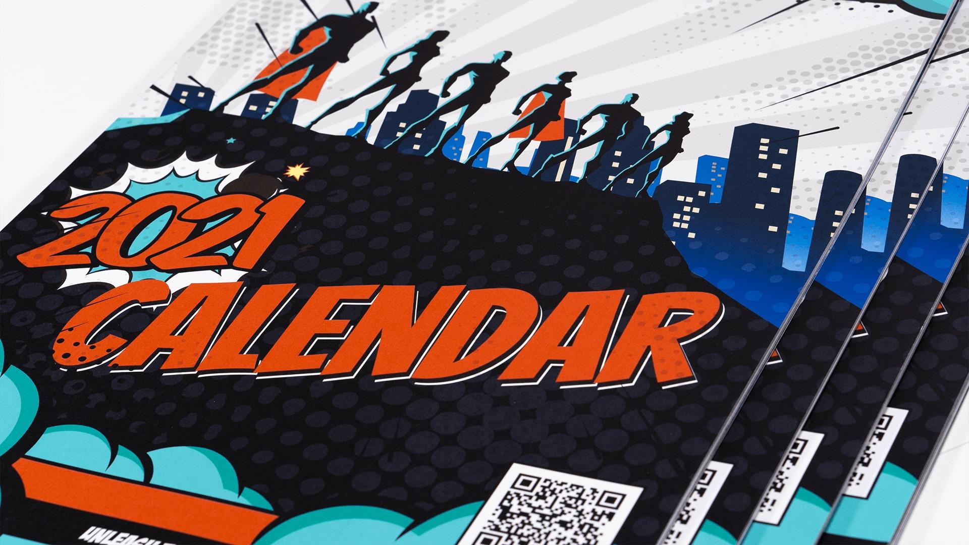 Vibrant 2021 ProStream Superheroes Calendar