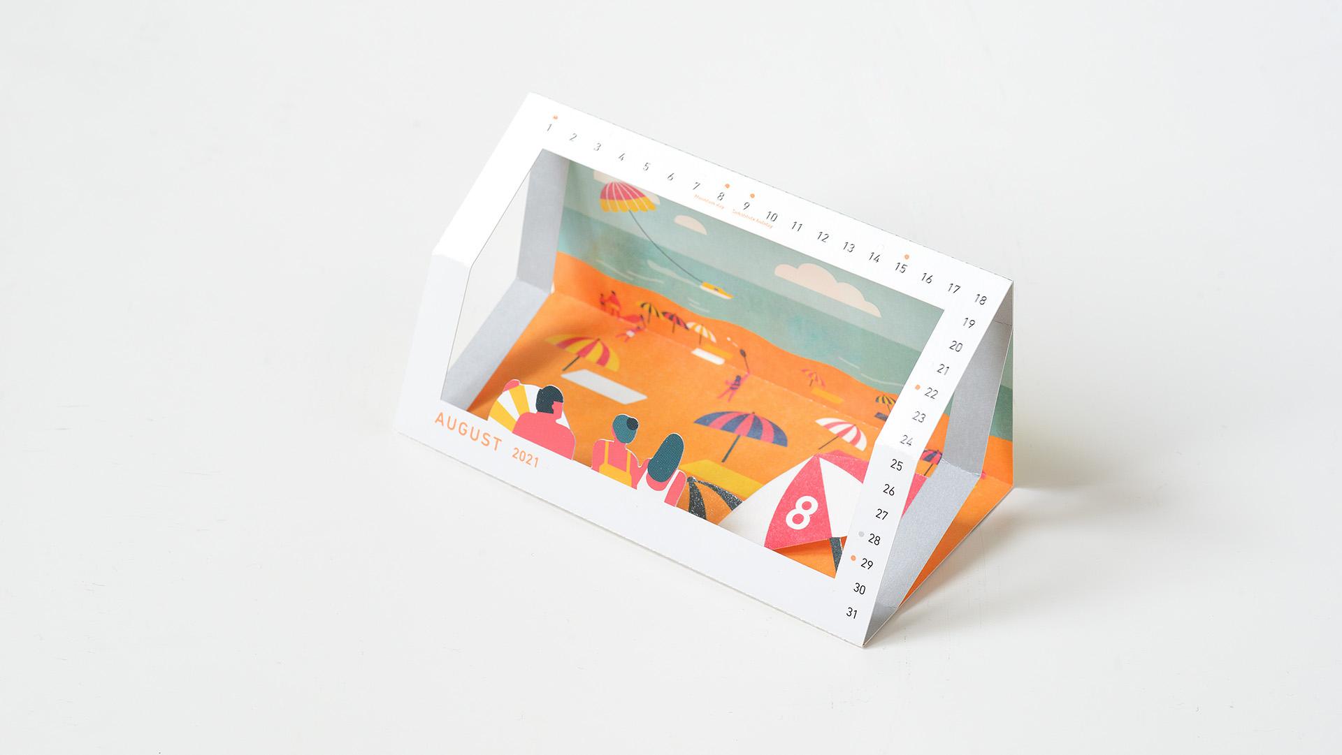 Interactive Calendar Design: 'The Next Journey' - PaperSpecs