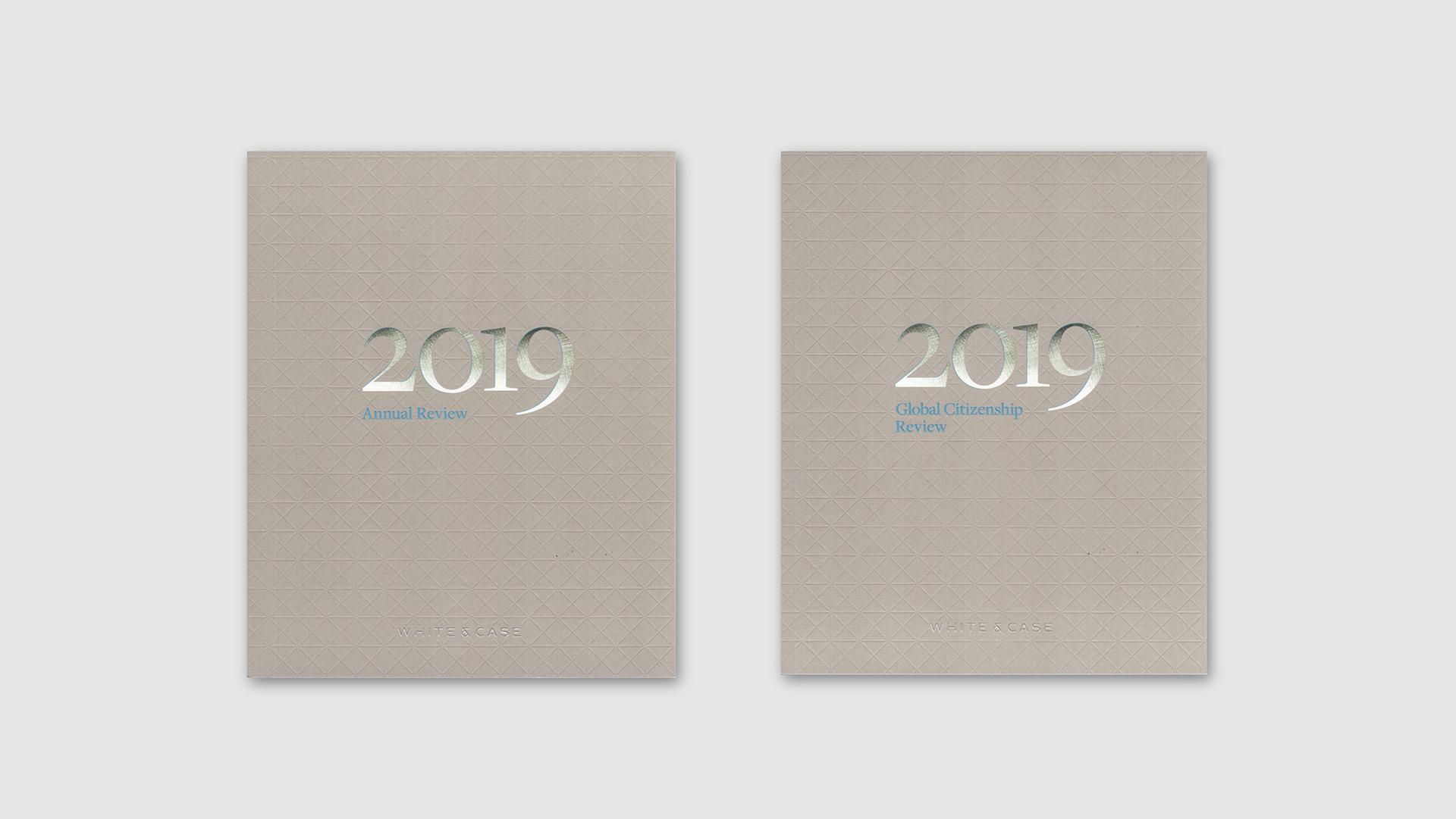 Creative Annual Report Design: White & Case - PaperSpecs